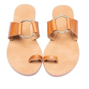 L'intervalle Tan Leather Sandals